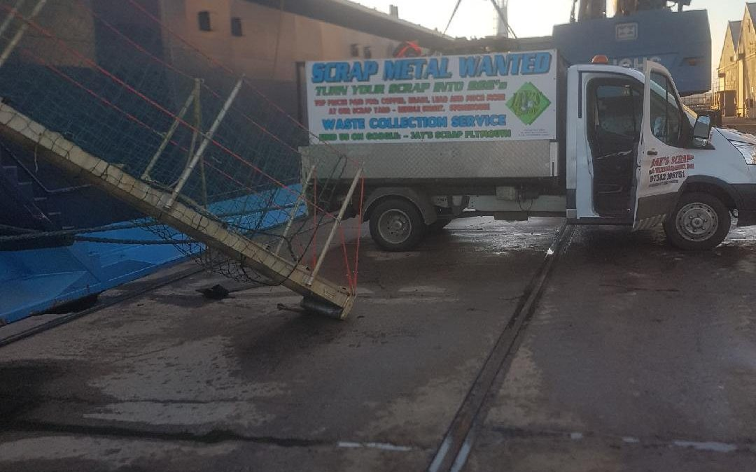 Scrap clearance at Cattedown Wharf: another happy customer